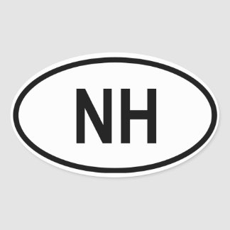 "New Hampshire ""NH"" Oval Sticker"