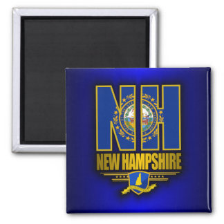 New Hampshire (NH) Square Magnet
