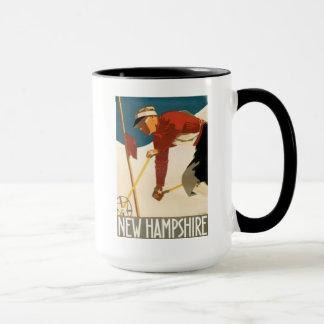 New Hampshire Ski Vintage Poster Mug