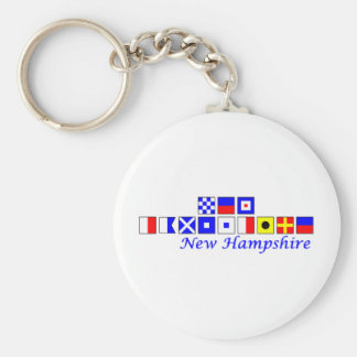 New Hampshire spelled in nautical flag alphabet Keychain