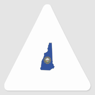 New Hampshire State Flag and Map Triangle Sticker