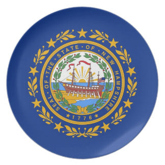 New Hampshire State Flag Plate