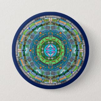 New Hampshire State Mandala Pin