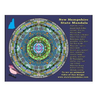 New Hampshire State Mandala Postcard