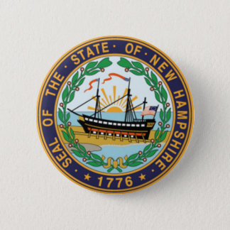 New Hampshire State Seal 2 Inch Round Button