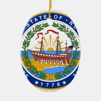 New Hampshire State Seal Ceramic Ornament