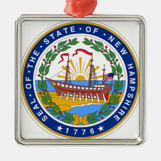 New Hampshire State Seal Metal Ornament