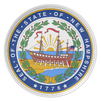 New Hampshire State Seal Plate