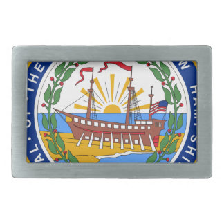 New Hampshire State Seal Rectangular Belt Buckle