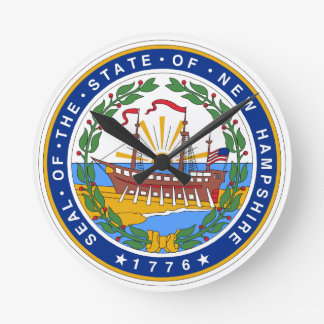 New Hampshire State Seal Round Clock