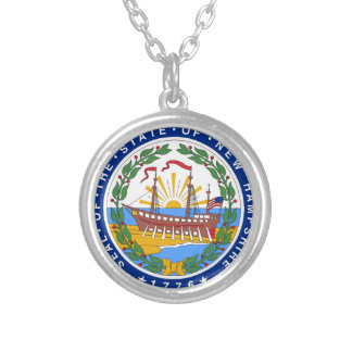 New Hampshire State Seal Silver Plated Necklace