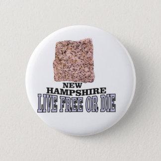 New Hampshire stone 2 Inch Round Button