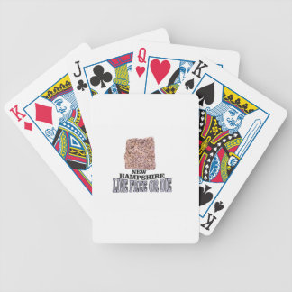 New Hampshire stone Bicycle Playing Cards