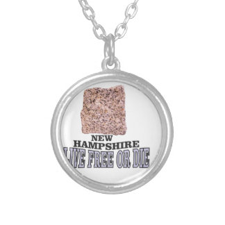 New Hampshire stone Silver Plated Necklace