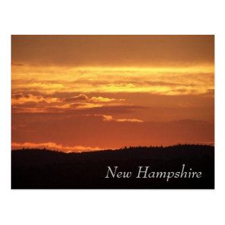 New Hampshire Sunset Postcard