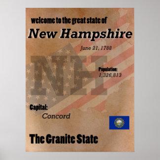 New Hampshire The Granite State Classic Poster