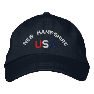 New Hampshire USA  Embroidered Navy Blue Hat