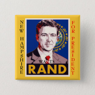 New Hampshire Wants Rand (Paul) 2 Inch Square Button