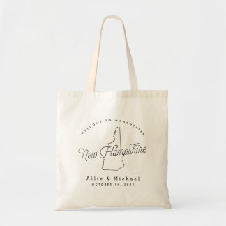 New Hampshire Wedding Welcome Tote Bag