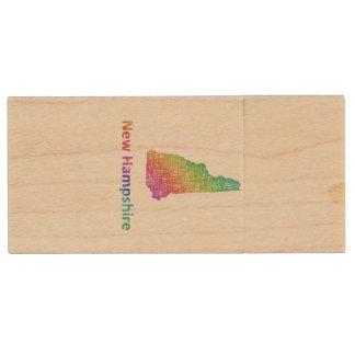 New Hampshire Wood USB Flash Drive