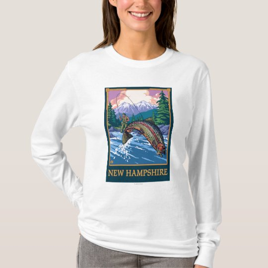 New HampshireAngler Fisherman Scene T-Shirt