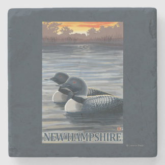 New HampshireCommon Loon Stone Coaster