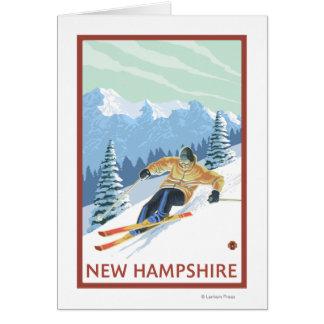 New HampshireDownhill Skier Scene Card