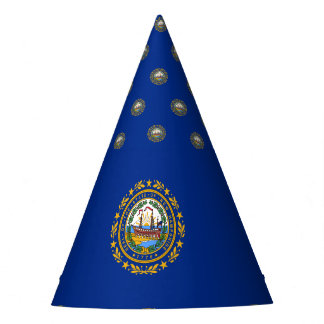 New Hampshire's Flag Party Hat
