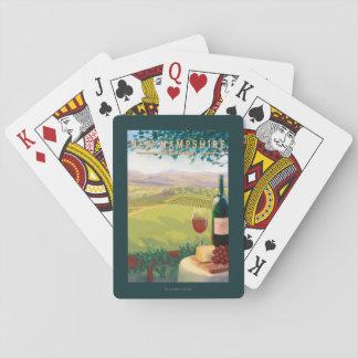 New HampshireWine Country Scene Poker Deck