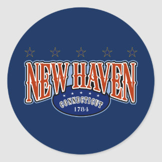 New Haven 1784 Classic Round Sticker