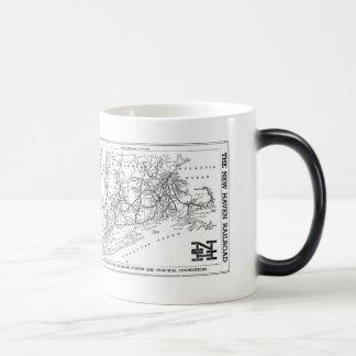 New Haven Railroad 1956 Map Magic Mug