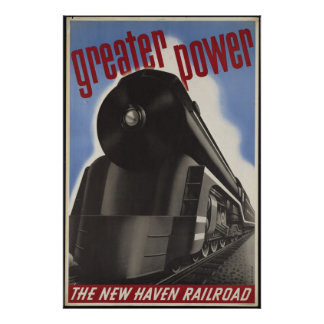 New Haven Train Vintage Travel Poster Ad Retro