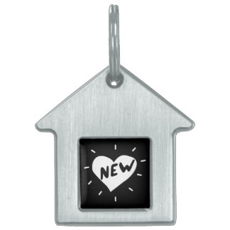 New Heart / House Pet Tag