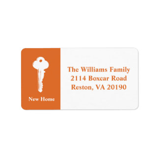 New Home Address Labels - Orange