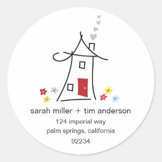 New Home Address Labels Round Sticker