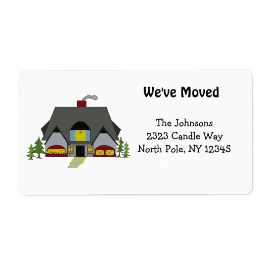 New Home Address Shipping Label