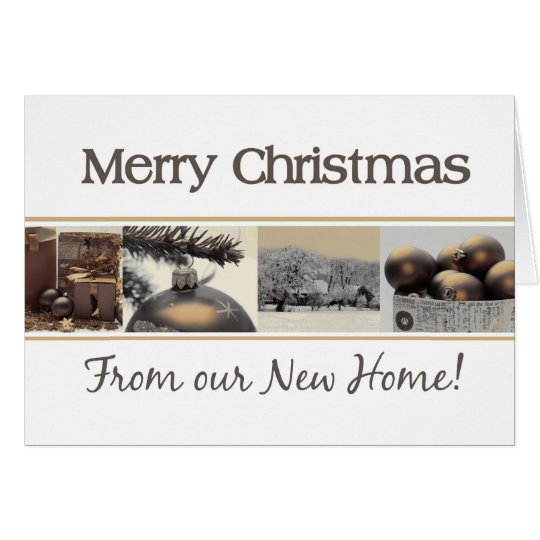 New Home announcement Merry Christmas