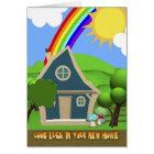 New Home Cartoon House Greeting card