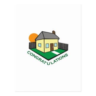 NEW HOME CONGRATS POSTCARD