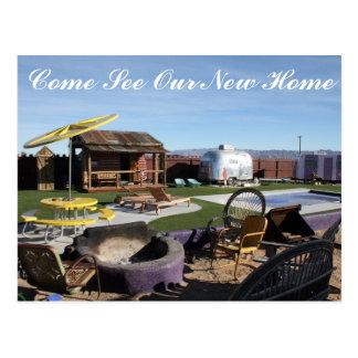 New Home Housewarming Backyard Party Postcard