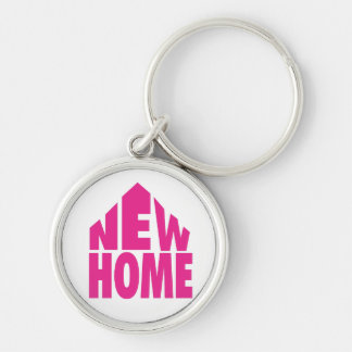 New Home Keyring/Keychain Silver-Colored Round Keychain