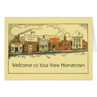 New Home New Hometown Congratulations Card