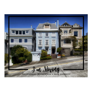 New Home Photo Black Frame I'm Moving Announcement Postcard