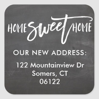 New Home Sweet Home Chalkboard Address Label
