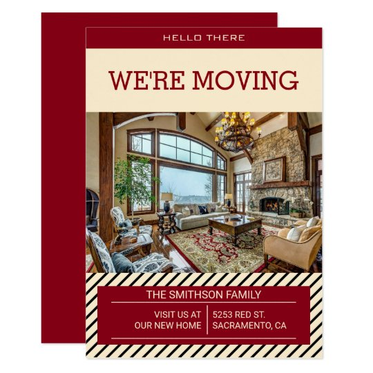 New Home | We Are Moving Announcement