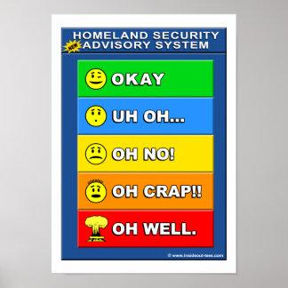 New Homeland Security Advisory System Poster