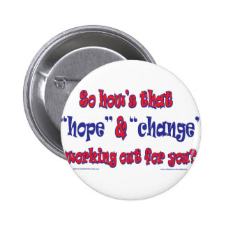NEW-HOPE-AND-CHANGE-Funky Script 2 Inch Round Button