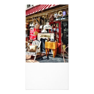 New Hope PA Antique Shop Custom Photo Card