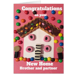 New house brother and partner card