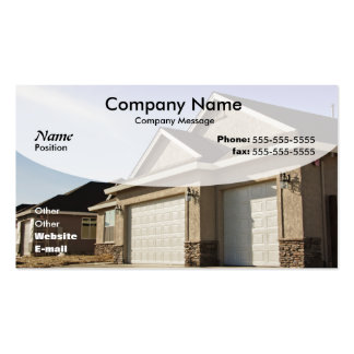 New House Construction Pack Of Standard Business Cards